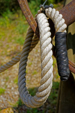 synthetic fiber: rope Stock Photo