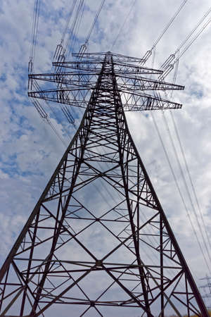 electrical tower: electrical tower Stock Photo
