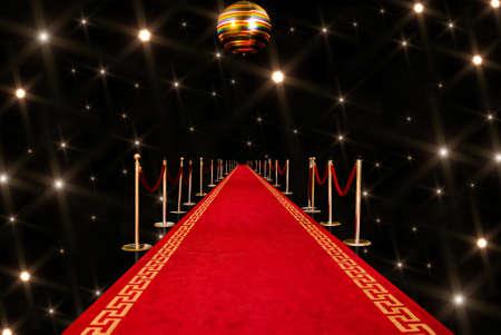 Shiny red carpet entrance background Stock Photo - 7574723