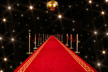 fames: Shiny red carpet entrance background