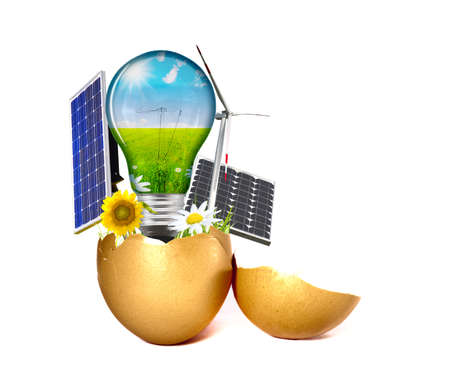 New energy born from a egg photo