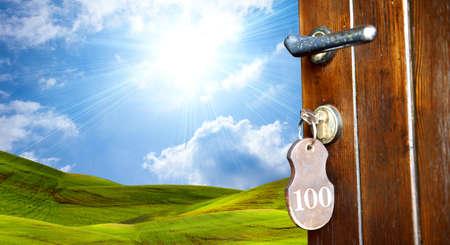 Een deur naar groene wereld