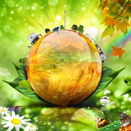 Monde vert concept image. Plus dans mon portefeuille.