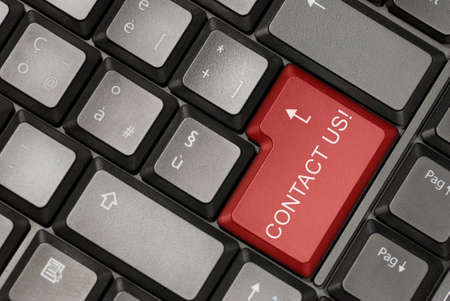 Keyboard of a laptot with contact us button Stock Photo - 8968144