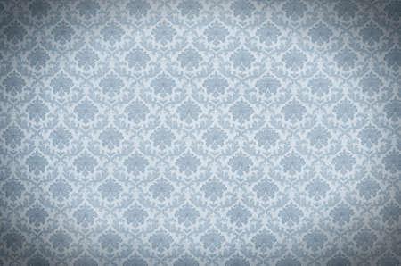 Blue elegant vintage wallpaper texture Stock Photo - 9030897