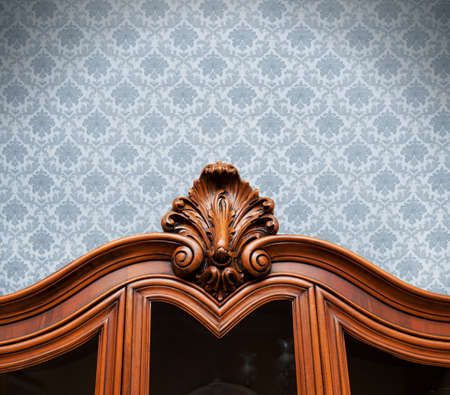 Vintage wood decoration with floral texture Stock Photo - 9030898
