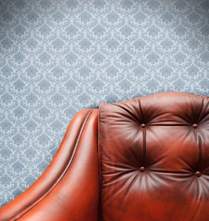 Vintage sofa on a floral texture Stock Photo - 9030901
