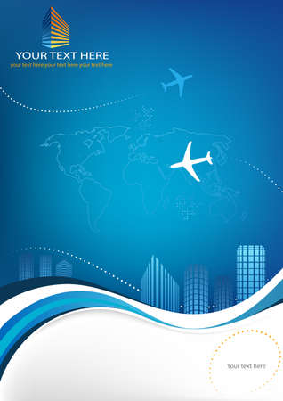 layout template: Business travel template for your print Illustration