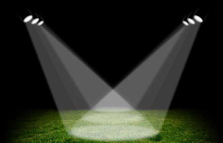 Spotlight in the green stadium