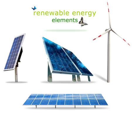 photovoltaik: Isoliert erneuerbare Energien Elemente für Ihre Drucke