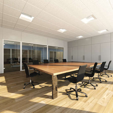 Rendering of modern meeting room photo