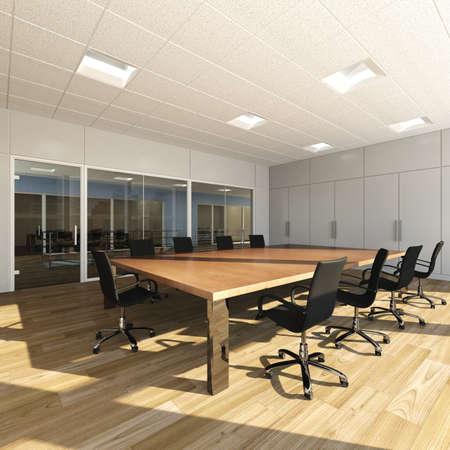 Rendering of modern meeting room photo