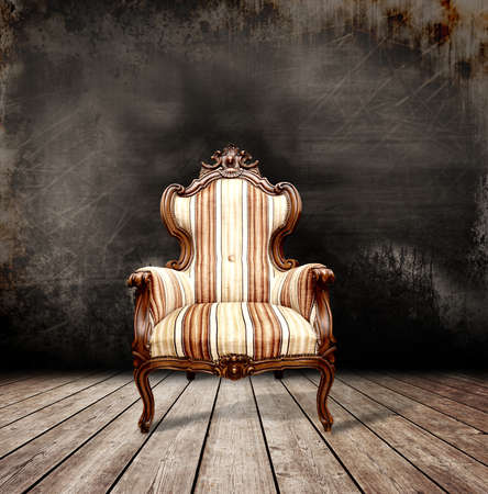antique chair: Old sofa in a antique room