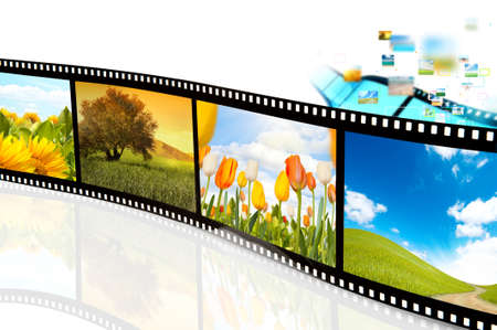 Film strip with photo of nature landscape photo