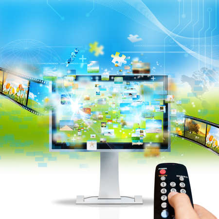 channel: Modern television streaming image and movie