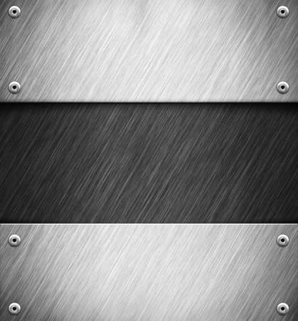 Abstract background with metal panel Stock Photo