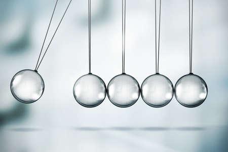 gravedad: Ilustración de cuna de Newton brillante