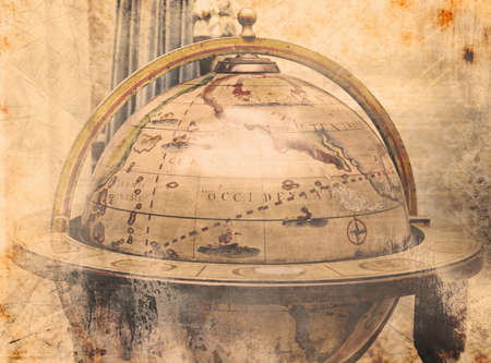 Background of a vintage world map photo