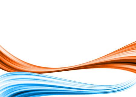 lineas onduladas: De fondo con el movimiento rojo y azul Foto de archivo