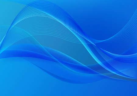 lineas onduladas: l�neas azules y las olas con el movimiento sobre un fondo azul