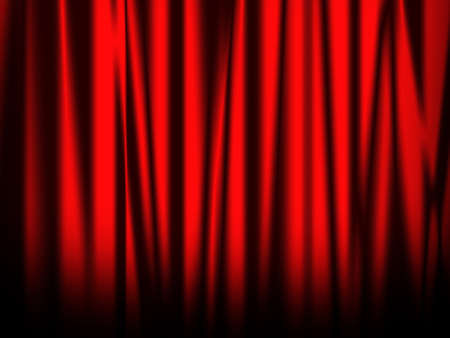 enact: red bright curtain of stage Stock Photo