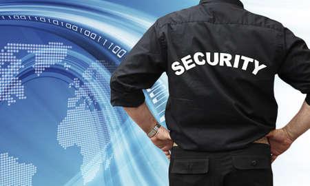 guardaespaldas: importante concepto de la seguridad en Internet Foto de archivo