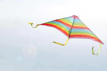 colorful kite in the sky photo