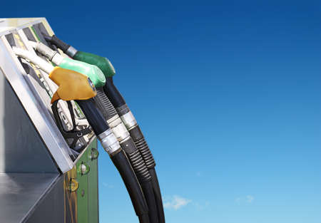 refuel: important concept of petrol and clean air Stock Photo