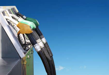gasolinera: importante concepto de la gasolina y el aire limpio