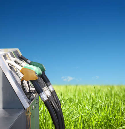 benzine: concept of petrol and clean environment on a natural background