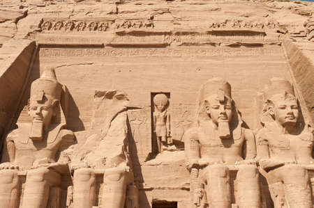 Abu Simbel temple in Egypt photo