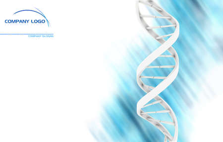 adn humano: Resumen de ADN con un área en blanco para su impresión