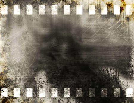 Grunge old film strip background Stock Photo - 11539827