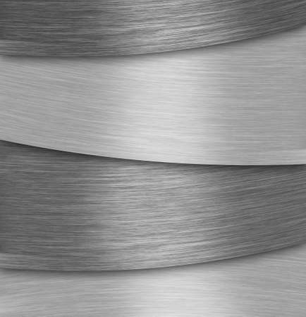 sleek: Abstract silver aluminium plate background