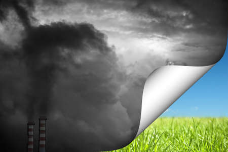 Change to green concept of pollution Stock Photo - 11539846