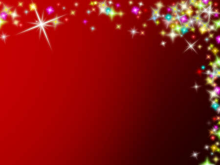 Colored Christmas stars on red background  photo