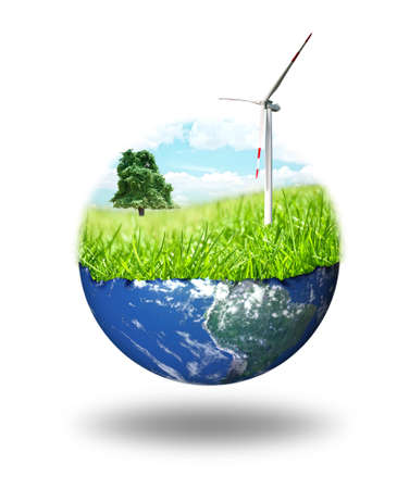 earth pollution: composition of clean energy concept