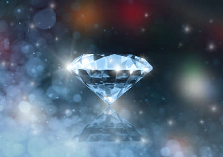 Diamond on a colored blurred background photo