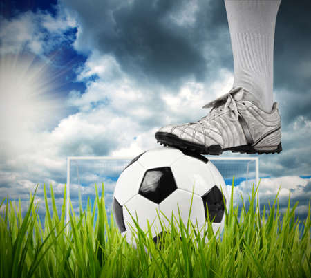 football shoes: Football player in a field