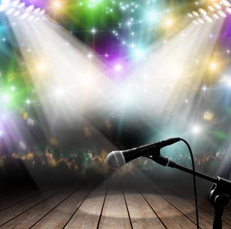 빛의 효과와 현대 음악 콘서트 스톡 콘텐츠