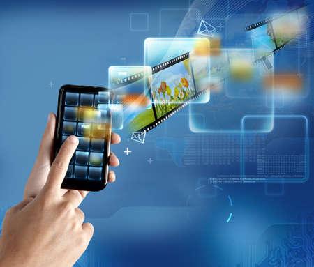 new technology: New technology on a modern smartphone