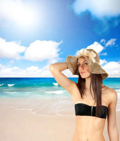 Sexy girl in a sunny beach Stock Photo - 12322534