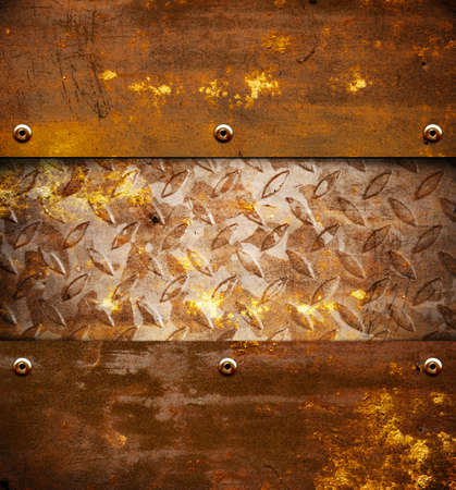 Old rusty brown metal background Stock Photo - 12703796