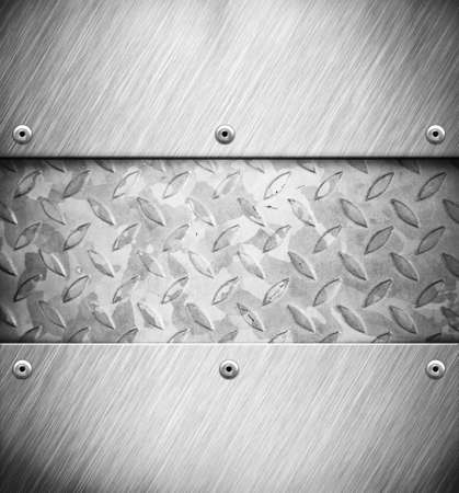 A silver metal panel background Stock Photo - 12703795