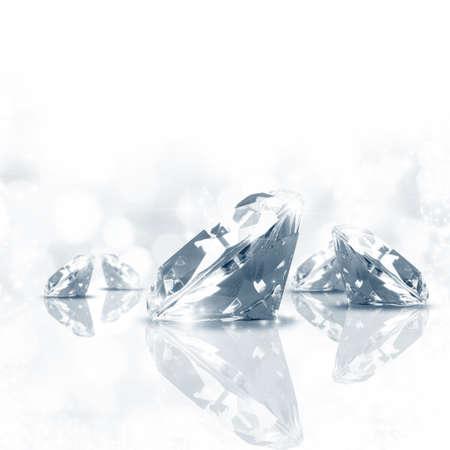 diamond stone: Luxury  background of diamond in blue tone Stock Photo