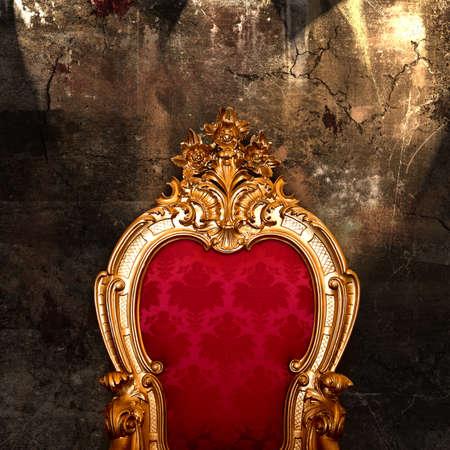 antique chair: Vintage armchair Stock Photo