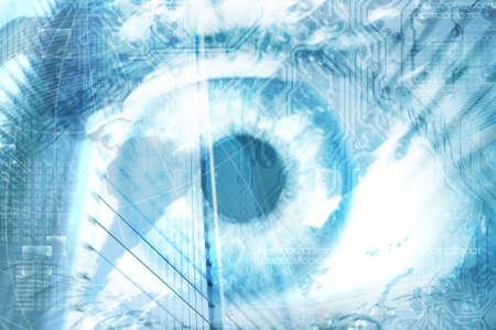 Futuristic vision of human eye photo