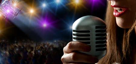 singer: Singer at the concert