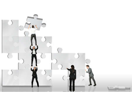 join the team: Business partner team work together Editorial