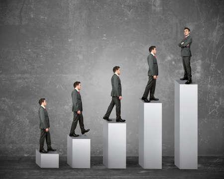 enterprises: Statistics and business success of a businessman Stock Photo